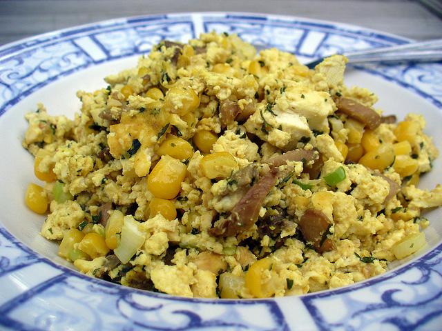 金黄炒豆腐Scrambled Tofu